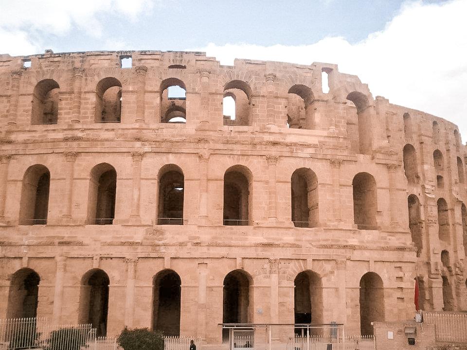 Outside El Djem's amphitheatre