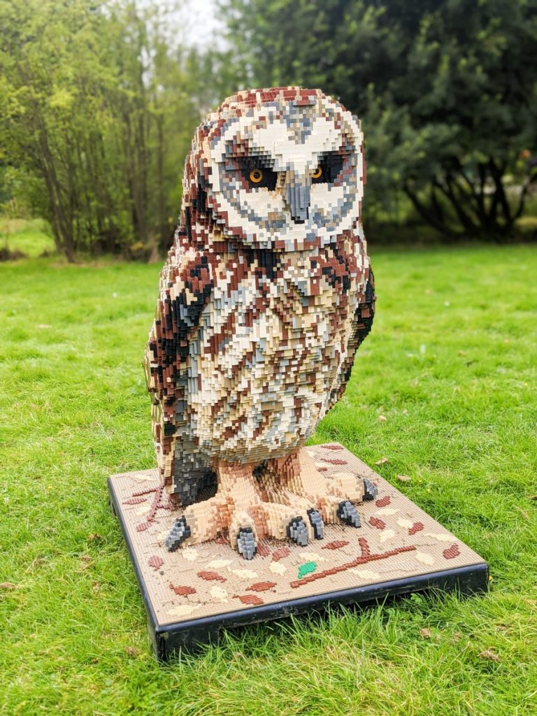 Lego owl at Martin Mere Wetlands Centre