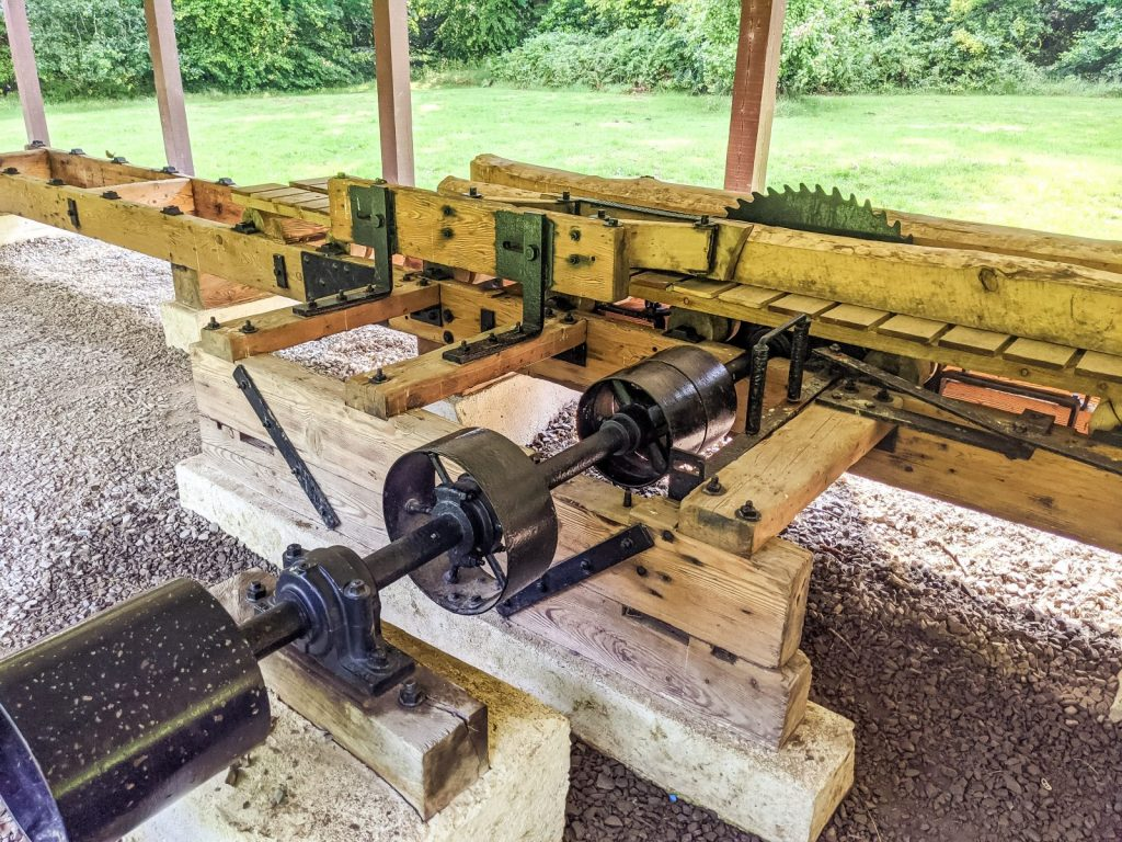 The sawmill in Mabie forest